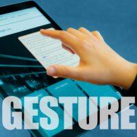 Application square pics gesture